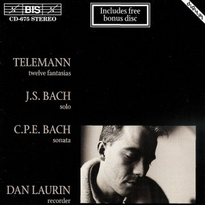 Telemann: 12 Fantasias; Bach: Partita for Flute solo, Dan Laurin, CD cover