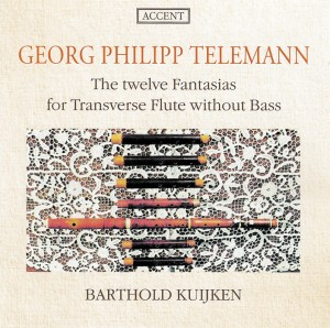 Telemann: 12 Fantasias for Flute without Bass, Kuijken, CD cover