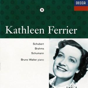 Kathleen Ferrier: Schubert, Brahms, Schumann — Walter; CD cover