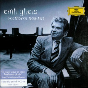 Beethoven: Piano sonatas, Gilels, CD cover