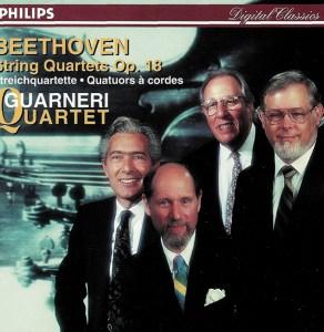 Beethoven, string quartets op.18, Guarneri String Quartet (1995), CD cover