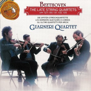 Beethoven, string quartets op.127 - 135, Guarneri String Quartet (1969), CD cover