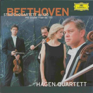 Beethoven, string quartets opp.130 & 133, Hagen Quartett, CD cover
