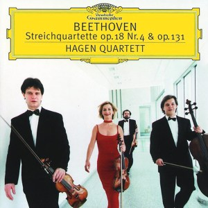 Beethoven, string quartets opp.18/4 & 131, Hagen Quartett, CD cover