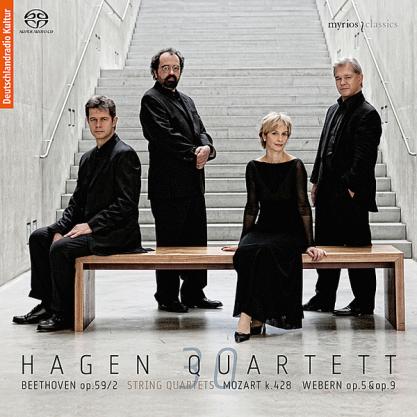 Beethoven/Mozart/Webern, string quartets, Hagen Quartett (2010), CD cover