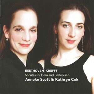 Beethoven & Krufft: Horn sonatas, Scott, Cok, CD cover