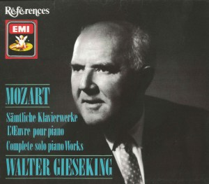 Mozart: Complete solo piano Works - Gieseking; CD cover
