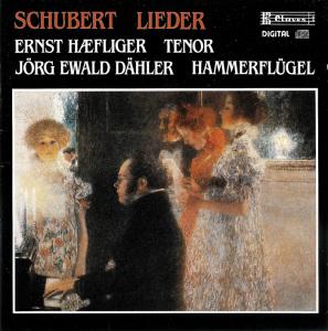 Schubert: Lieder —Haefliger, Dähler; CD cover