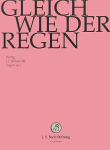 Bach: Cantata BWV 18, Lutz, Bach Foundation St.Gallen, DVD cover