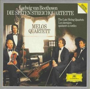 Beethoven, string quartets opp.127 - 135, Melos Quartett, CD cover