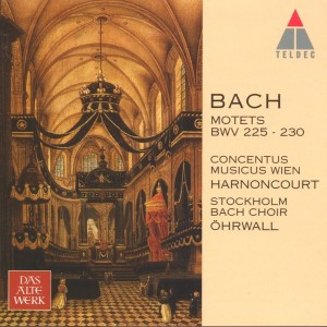 Bach: The Motets, Harnoncourt, Stockholm Bach Choir, CD cover