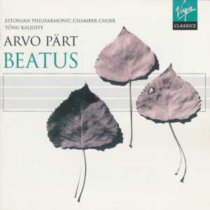 Arvo Pärt, Beatus, Kaljuste, CD cover