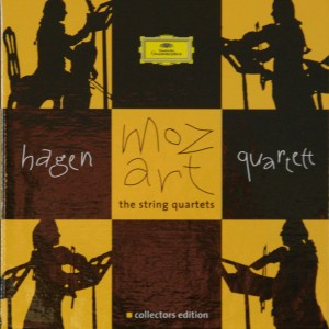 Mozart: The String Quartets, Hagen Quartett, CD cover
