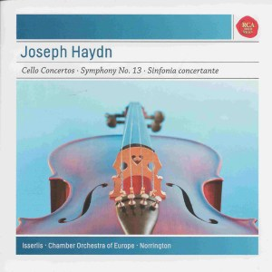 Haydn: Cello concertos, Steven Isserlis, Sir Roger Norrington, CD cover