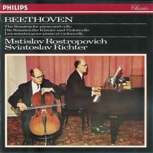 Beethoven: Cello sonatas, Rostropovich, Richter, CD cover