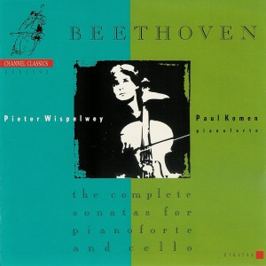 Beethoven: cello sonatas, Wispelwey, Komen, CD cover