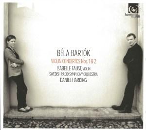 Bartok: violin concertos - Faust / Harding, CD cover