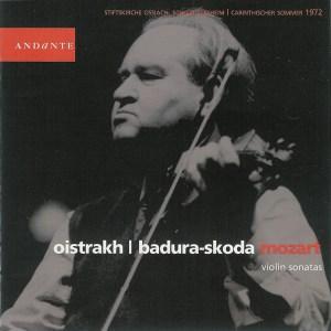 Mozart: Violin sonatas & variations, Oistrakh/Badura-Skoda, CD/DVD cover