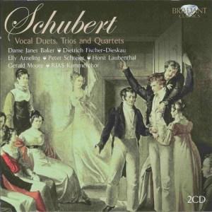 Schubert: Vocal Duets/Trios/Quartets, Ameling/Baker/Schreier/Laubenthal/Fischer-Dieskau, CD cover