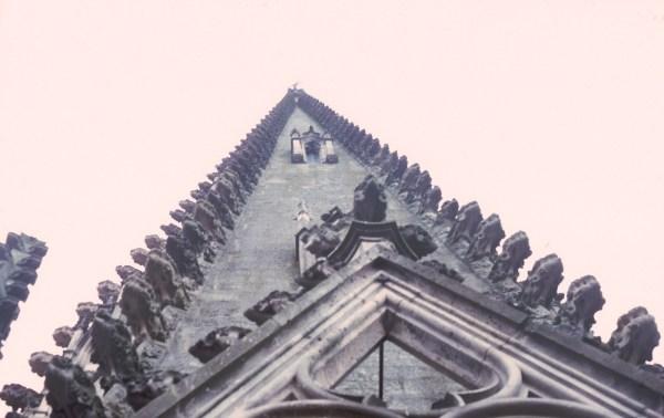 Autun cathedral, Gothic spire, 1975