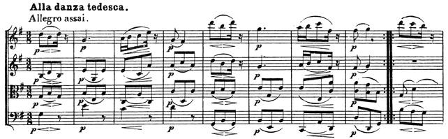 Beethoven, string quartet op.130, mvt.4, score sample