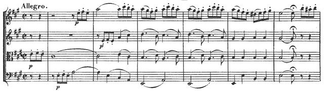 Beethoven, string quartet op.18/5, mvt.4, score sample