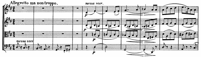Beethoven, string quartet op.95, mvt.2, score sample