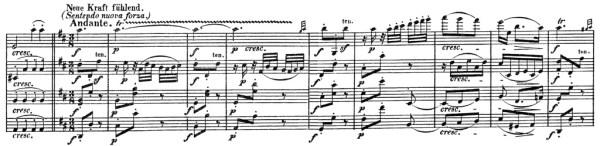 Beethoven, string quartet op.132, mvt.3, score sample, Neue Kraft fühlend