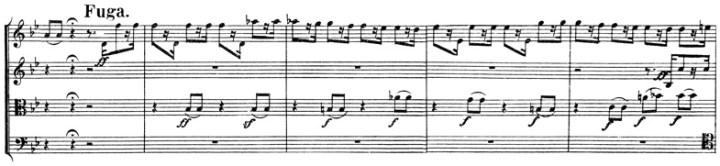 Beethoven: Great Fugue op.133, score sample, Fuga