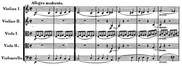 Beethoven, string quintet op.29, mvt.1, score sample