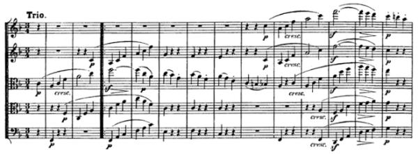 Beethoven, string quintet op.29, mvt.3, score sample, Trio