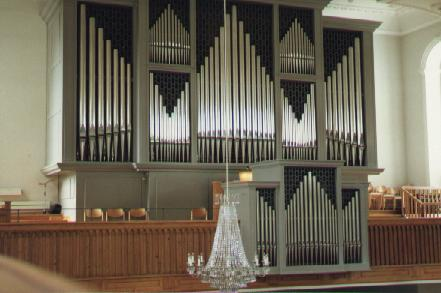 Goll-organ (1963) in the Protestant Church in Uster / CH