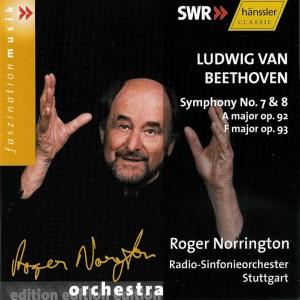 Beethoven: Symphonies 7/8 —Norrington, RSO Stuttgart; CD cover