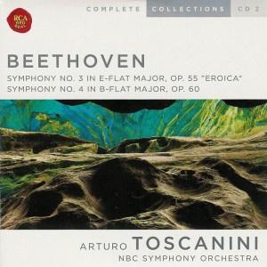 Beethoven: Symphonies 3/4 —Toscanini / NBCSO; CD cover