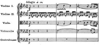 Beethoven, Symphony No.4 B♭ major op.60, score sample, mvt.2