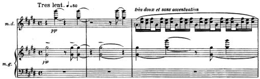 Ravel: Miroirs, La vallée des cloches, score sample