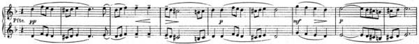 Rachmaninoff: Piano Concerto No.3 D minor, op.30: mvt.1, score sample