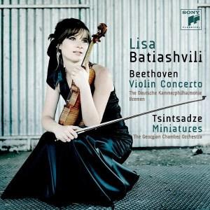 Beethoven: Violin Concerto — Batiashvili; CD cover