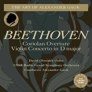 Beethoven: Violin Concerto — Oistrakh, Gauk; CD cover