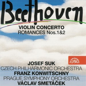 Beethoven: Violin Concerto, Romances — Suk, Konwitschny; CD cover