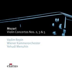 Mozart: Violin concertos 2, 3, 5 —Repin, Menuhin; CD cover