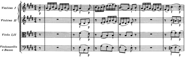 Mozart: Violin Concerto No.5 in A, K.219 —score sample, mvt.2