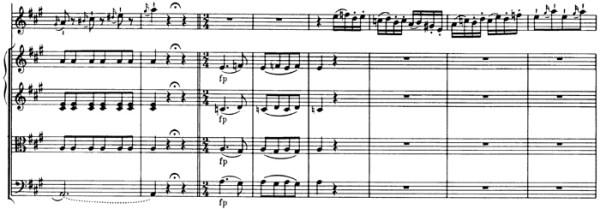 Mozart: Violin Concerto No.5 in A, K.219 —score sample, mvt.3, Allegro