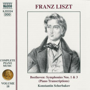 Liszt / Beethoven: Symphonies Nos.1 & 3 — Scherbakov; CD cover