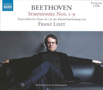 Liszt / The Beethoven Symphonies — Scherbakov; CD cover
