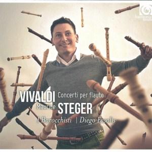 Vivaldi: Concerti per flauto (2014) —Steger, Fasolis; CD cover