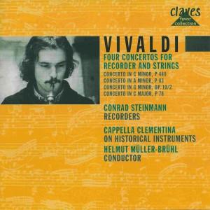 Vivaldi: 4 Concertos for Recorder & Strings —Steinmann, Müller-Brühl; CD cover