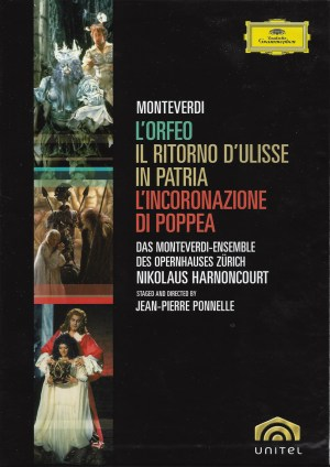 Claudio Monteverdi / The operas — Ponnelle, Harnoncourt; DVD box, cover