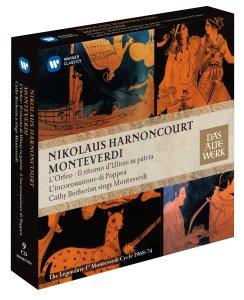Monteverdi: Orfeo/Ulisse/Poppea — Harnoncourt, Concentus musicus; CD cover