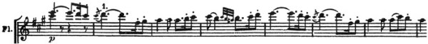 Beethoven: Symphony No.7 in A major, op.92, score sample: movement #1, Vivace, theme